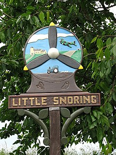 Little Snoring Village in Norfolk, England