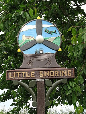 The Village sign, Little Snoring, Norfolk