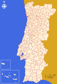 Administrative location of the municipality of Porto