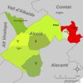 Localització de Penàguila respecte l'Alcoià.png