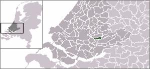 Nieuw-Lekkerland - Image: Locatie Nieuw Lekkerland