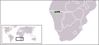 Ovamboland - Location of former Ovamboland in Africa