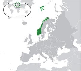 노르웨이의 위치
