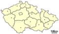 Location of Czech city Slavonice.png