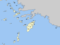 Location of municipalities within the Dodecanese Islands.png