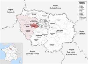 Arrondissement of Versailles - Image: Locator map of Arrondissement Versailles