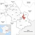 Locator map of Kanton Le Moyen Grésivaudan 2019.png