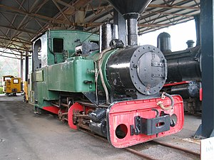 Disused locomotive in West Coast Pioneers Muse...