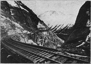 White Pass and Yukon Route - Looking south from the tunnel