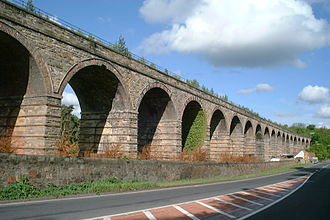 Waverley Route - Newbattle Viaduct over the South Esk near Newtongrange