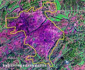 Loudi - Satellite image of Loudi city
