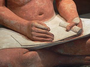 The Seated Scribe - Detail