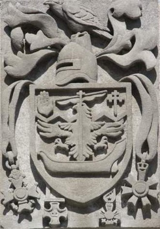 Canadian heraldry - Image: Lt Gen Sir A C Macdonell Arms @ Currie Building, Royal Military College of Canada