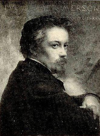 Luc-Olivier Merson - Luc-Olivier Merson, portrait by François Schommer (1885)