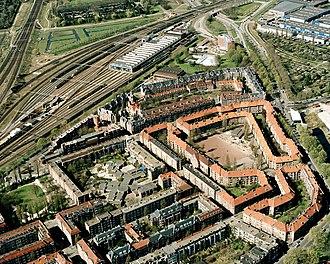 Michel de Klerk - Image: Luchtfoto Spaarndammerplantsoe n Amsterdam 20410372 RCE