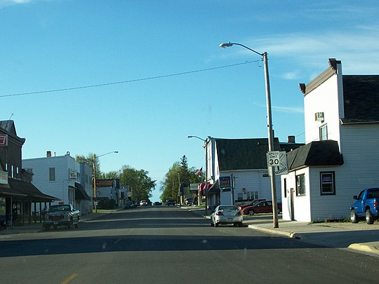 Looking north at downtown Luxemburg