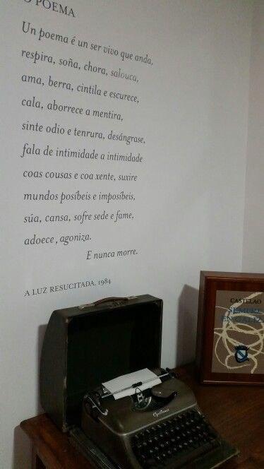 Máquina de escribir que se conserva na Casa Museo Manuel María.