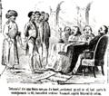 M. B. Baer - Tribunalul din casa Moscu compus de boerĭ, condamnă pe ceĭ care aŭ luat parte la revoluțiunea de la 48; Esecutând ordinul Rusescŭ, capâtŭ felurimĭ de ordine, Ghimpele, 28 mai 1868.png