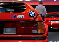 Pictured, from the BMW Museum's own model, is the M1's rear bonnet ornament, accompanied with the M1 label/etching.