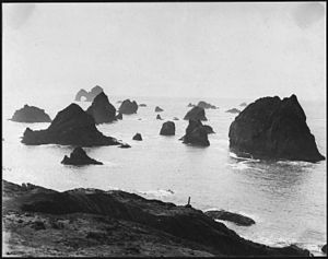 Curry County, Oregon - Mack Arch Cove in 1938