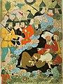 MAHOMA Y ABUBEKER EN LA CUEVA.- Miniatura turca . siglo XVII. Dresde, Biblioteca Nacional de Sajonia.jpg