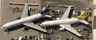 Wide-body aircraft - The McDonnell Douglas DC-10 (right) and MD-11 (left) wide-body trijets