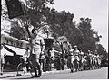 MEMBERS OF THE MACCABIA DELEGATION FROM BEIRUT MARCHING THROUGH ALLENBY STREET TO THE STADIUM FOR THE OPENING OF THE 1946 MACCABIA. המשלחת מביירות למשD843-036.jpg