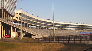 Texas Motor Speedway - A glimpse of the Texas Motor Speedway stadium before the crowds arrive.