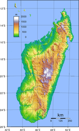 Madagascar Topography