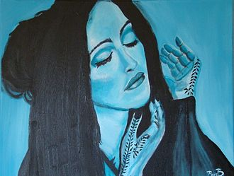 """Cultural impact of Madonna - A painting inspired by Madonna's look on the music video of """"Frozen"""". The released of Ray of Light increased the popularity of traditional Asian culture in American popular culture."""