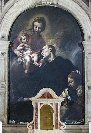 Antonio Molinari - Image: Madonna dell'Orto (Venice) Chapel St Mauro Madonna col Bambino e san Mauro abate Antonio Molinari