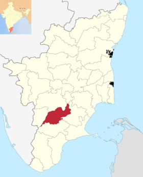 Localisation de District de Madurai