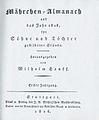 Maehrchen-Almanach auf das Jahr 1826 - Titelblatt der Erstausgabe 2.jpg