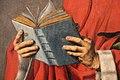 Maestro dell'annunciazione di aix, forse barthélemy d'eyck, geremia e cristo risorto, da s. salvatore ad aix-en-provence, 1443-45 ca. 07 libro.JPG