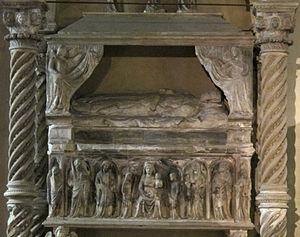 Maria of Calabria - Tomb in Santa Chiara, in Naples