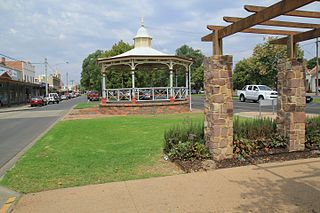 Maffra Town in Victoria, Australia