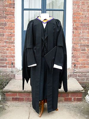Academic dress of the University of Manchester - Full academic dress for the University of Manchester prescribed for bachelors and masters