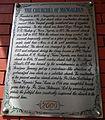 Mangaldan Church history plaque (Pangasinan).jpg