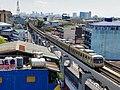 Manila Line 2 train towards Araneta Center - Cubao station.jpg