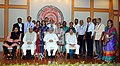 Manmohan Singh with the Awardee Teachers ahead of Teachers' Day, in New Delhi. The Union Minister for Human Resource Development, Dr. M.M. Pallam Raju and the Ministers of State for Human Resource Development (10).jpg