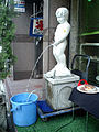 Manneken Pis and a Blue Bucket in japan 2004.jpg