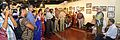 Manoj Mitra - Addressing - Opening Ceremony - Atanu Ghosh Solo Exhibition - Kolkata 2013-12-05 4675-4677.JPG