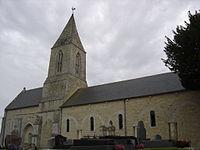 Manvieux église Saint-Rémy, façade nord.JPG