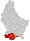 Localisation de Roeser au Luxembourg