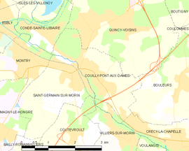 Mapa obce Couilly-Pont-aux-Dames
