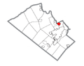 Map of Catasauqua, Lehigh County, Pennsylvania Highlighted.png