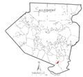 Map of Elizabeth, Allegheny County, Pennsylvania Highlighted.png