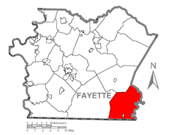 Map of Henry Clay Township, Fayette County, Pennsylvania Highlighted.png