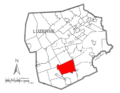 Map of Luzerne County, Pennsylvania Highlighting Butler Township.PNG