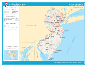 Outline of New Jersey - An enlargeable map of the State of New Jersey